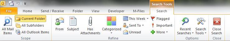 Sådan søger du i Microsoft Outlook