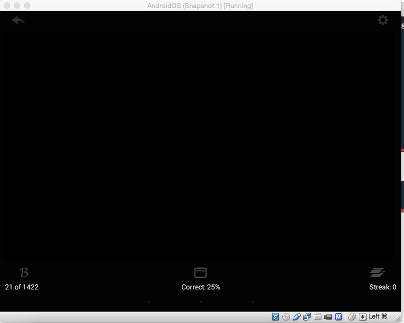 Virtualbox med Android giver sort skærm