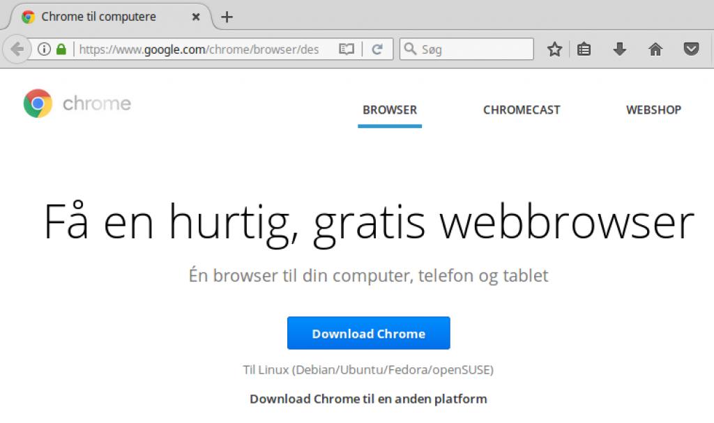 Installer Google Chrome i Linux Mint - IT-blogger